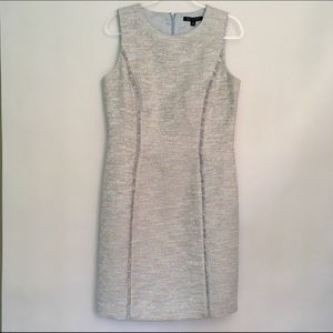 Brooks Brothers Tweed Cotton Blend Sheath Dress